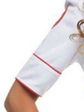 Hollow Short Sleeve Nurse Sexy Costume
