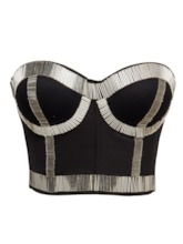 Patchwork Plain Polyester Belts Corset