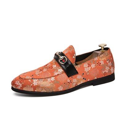 Floral Slip-On Low-Cut Upper Mens Prom Shoes Floral Slip-On Low-Cut Upper Men's Prom Shoes