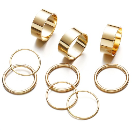 Unique Punk Knuckle Rings for Women 9 PCS