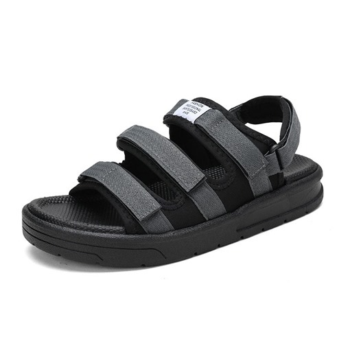 Letter Low-Cut Upper Velcro Open Toe Men's Sandals