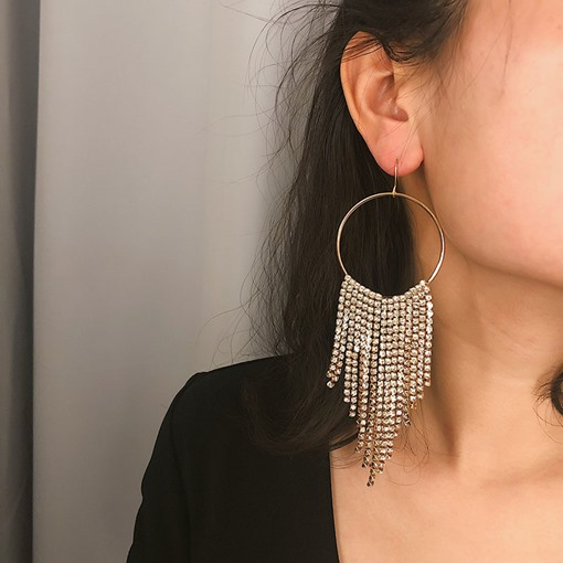 Full Drill Shiny Dangle Earrings for Women