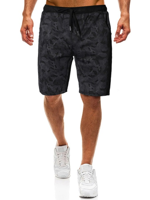 Thin Camouflage Straight Lace-Up Casual Men's Casual Pants