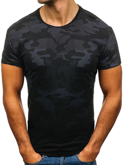 Round Neck Casual Camouflage Short Sleeve Men's T-shirt