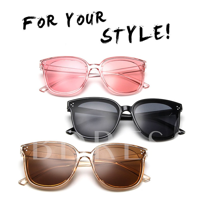 Square Shape Wrap Resin Unisex Fashion Sunglasses