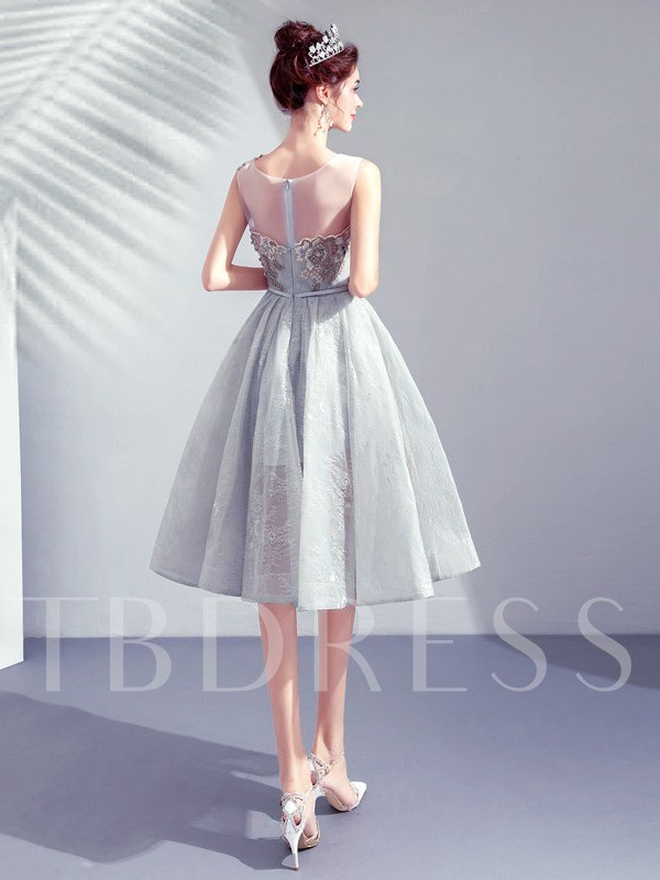 Sleeveless Scoop A-Line Knee-Length Cocktail Dress 2019