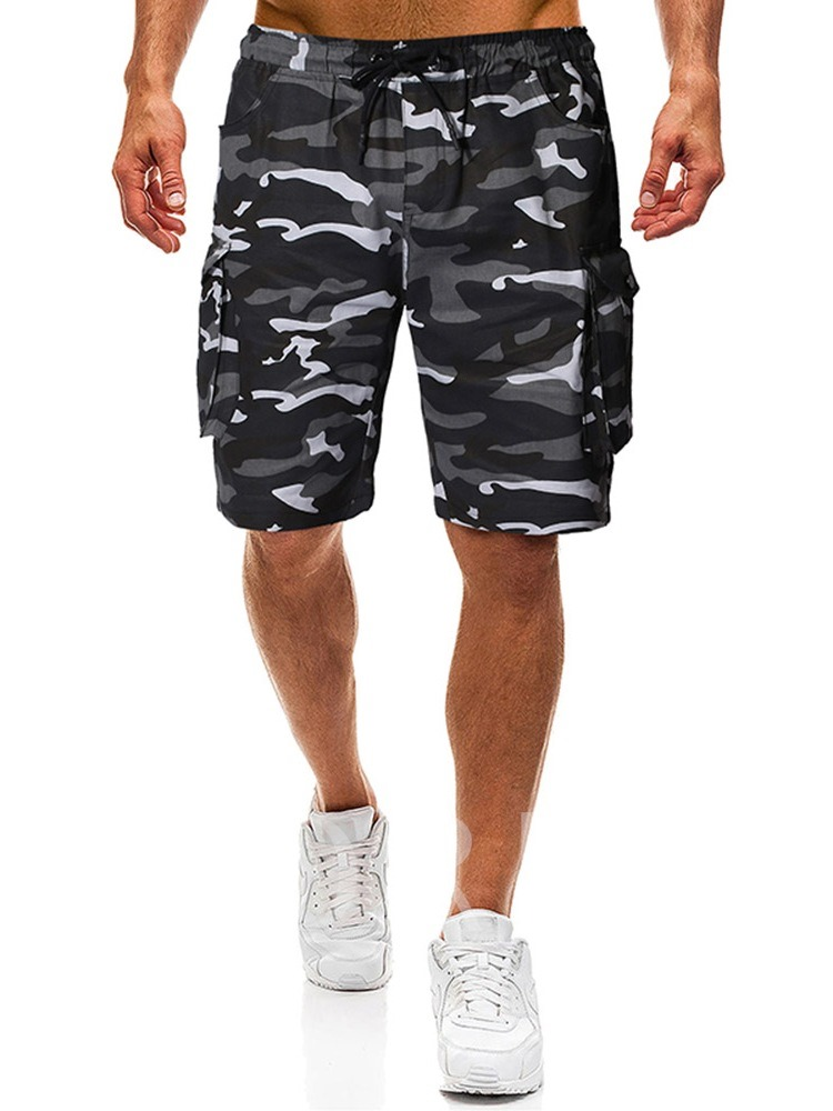 Straight Camouflage Pocket Thin Summer Men's Casual Pants
