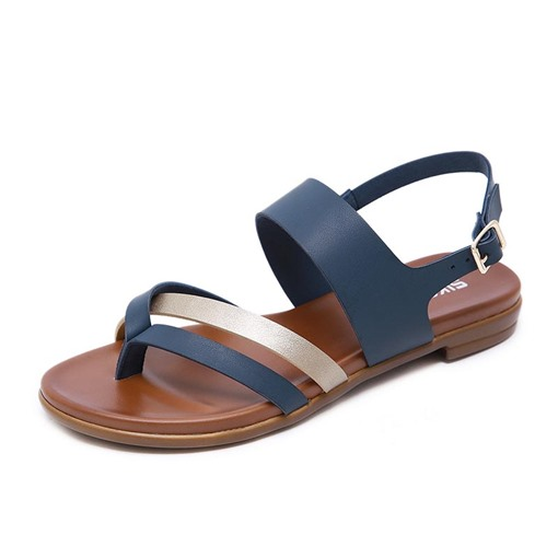 Thong Buckle Slingback Strap Buckle Women's Flat Sandals