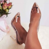 Stiletto Heel Pointed Toe Slip-On Sexy Pumps
