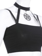 Halloween Costume Spaghetti Straps Polyester Backless Short Women's Tank Top