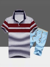 Stripe Pants Casual Summer Men's Outfit