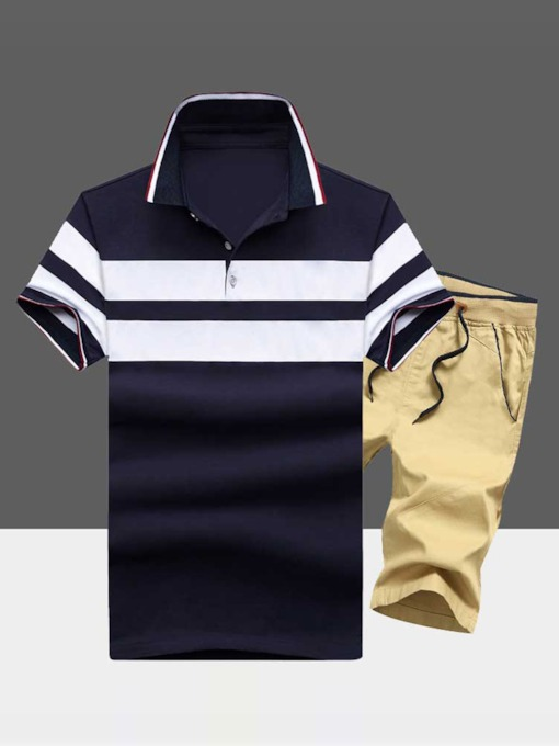 Stripe Casual Pants Summer Men's Outfit