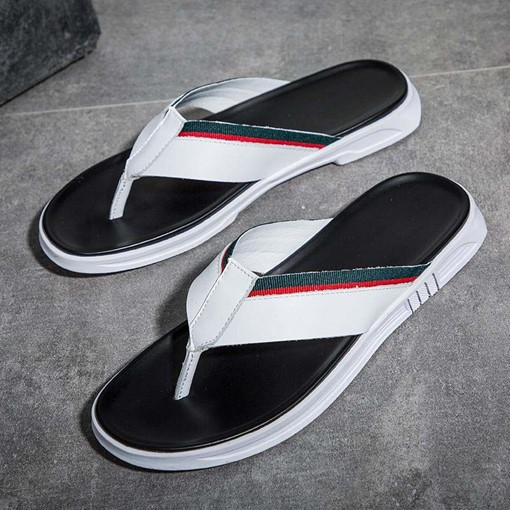 Summer Color Block Simple Men's Slippers