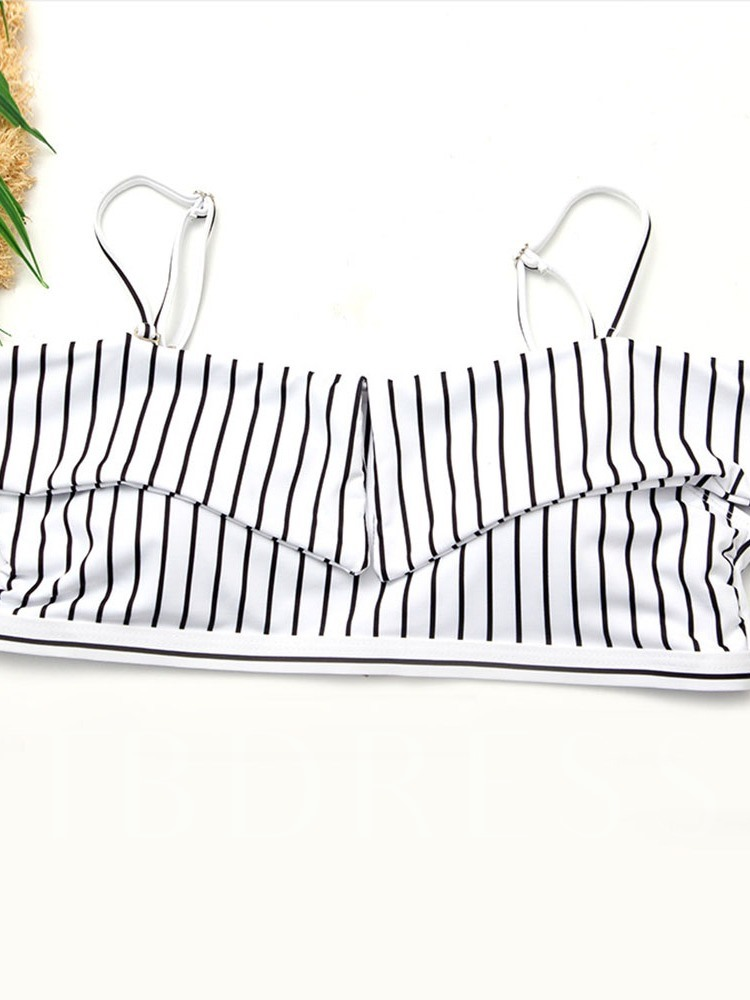 Stripe Tankini Set Women's Swimwear