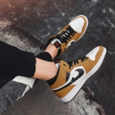 Round Toe Lace-Up High Top Women's Skate Shoes