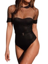 Plain Patchwork One Piece Sexy Women's Swimwear