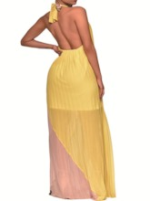 Backless Sleeveless Backless Halter Women's Maxi Dress