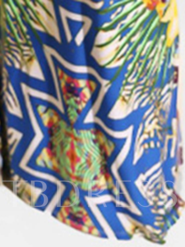 Print Geometric Sleeveless Bodycon Women's Maxi Dress