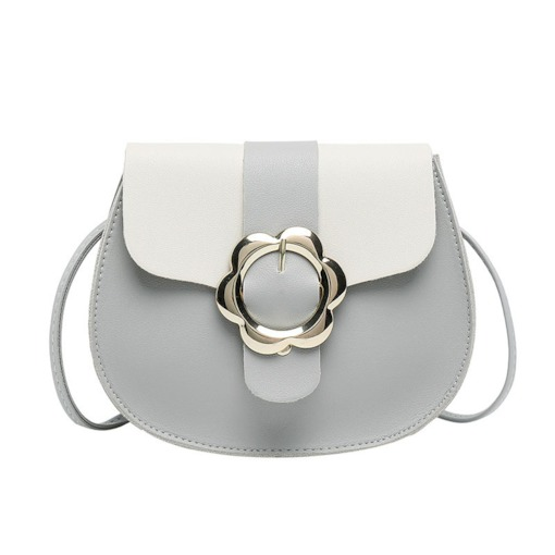 PU Color Block Saddle Crossbody Bags