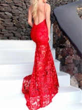 Sleeveless Court Train Halter Floor-Length Evening Dress 2019