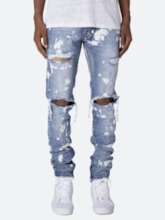 Pencil Pants Hole European Men's Jeans