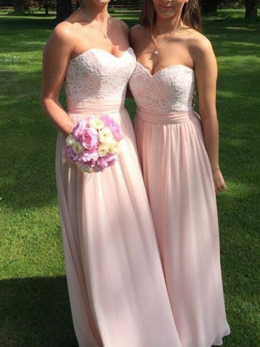 Sweetheart A-Line Lace Bridesmaid Dress 2019