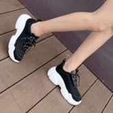 Lace-Up Round Toe Outdoor Women's Chunky Sneakers
