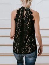 Lace Lace Mid-Length Women's Tank Top