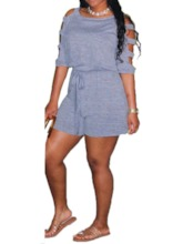 Western Plain Shorts Loose Women's Romper