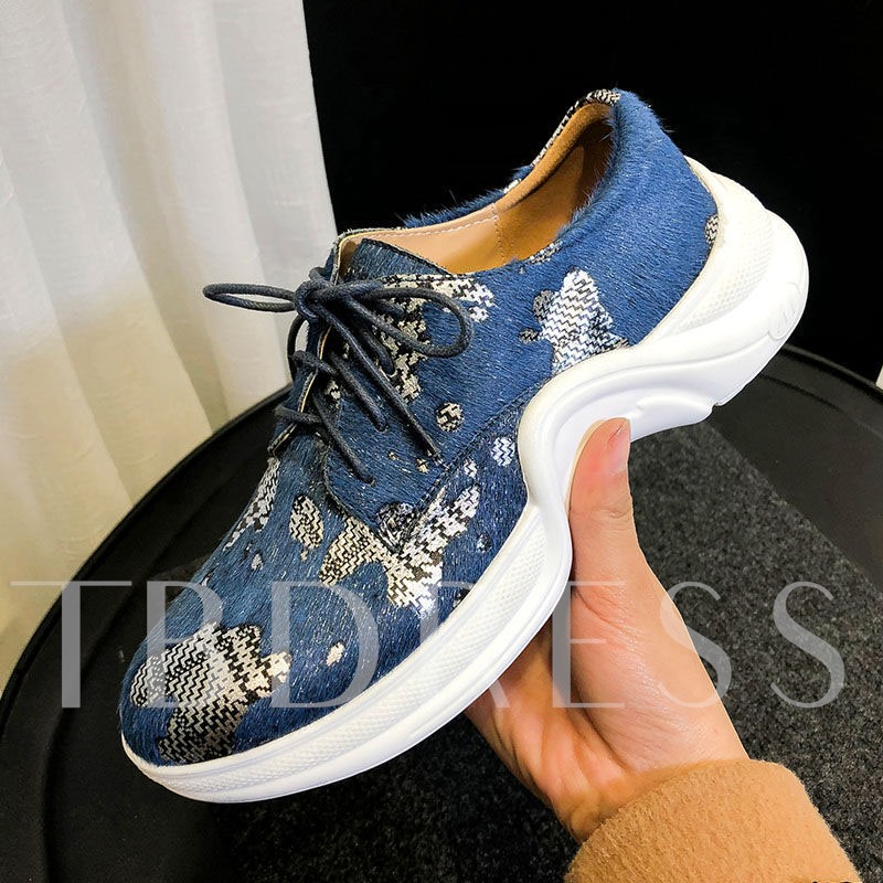 Lace-Up Low-Cut Upper Round Toe Customized Sneakers