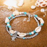 Bohemian Starfish Stone Anklets Set For Women