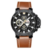 Round Analog Dial Military Waterproof Sport Men's Watch