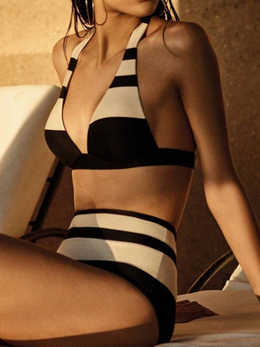 Sexy Stripe Bikini Set Women's Swimwear