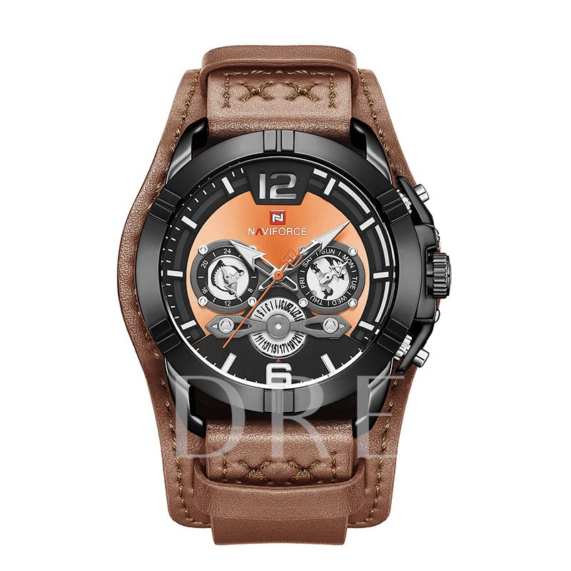 Analogue Display PU Leather Band Men's Watch