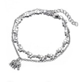 Vintage Ethnic Style Pendant Anklets For Women 2 PCS/Set