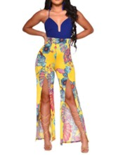 Strap Western Plant Full Length Loose Women's Jumpsuit