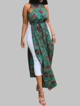 African Style Print Polyester Long Women's Blouse