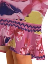 Floral Falbala Western Skirt Pullover Women's Two Piece Sets