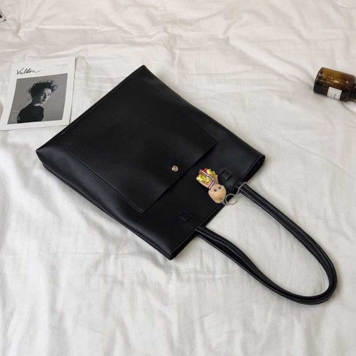 Modern Style Casual PU Shoulder Bags