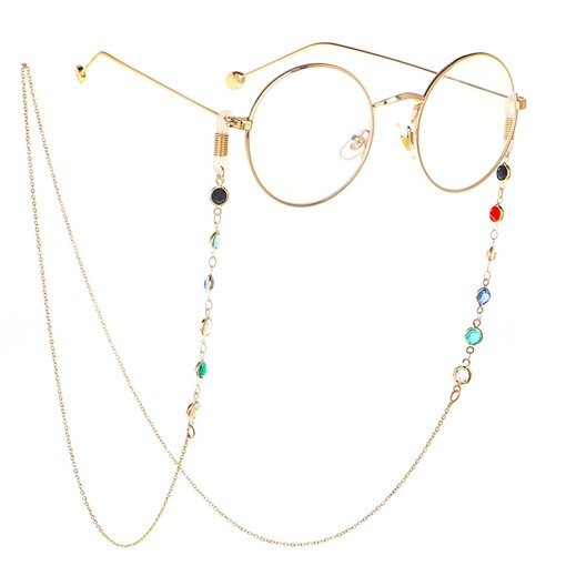 Chic Colorful Beaded Metal Eyeglass Chain