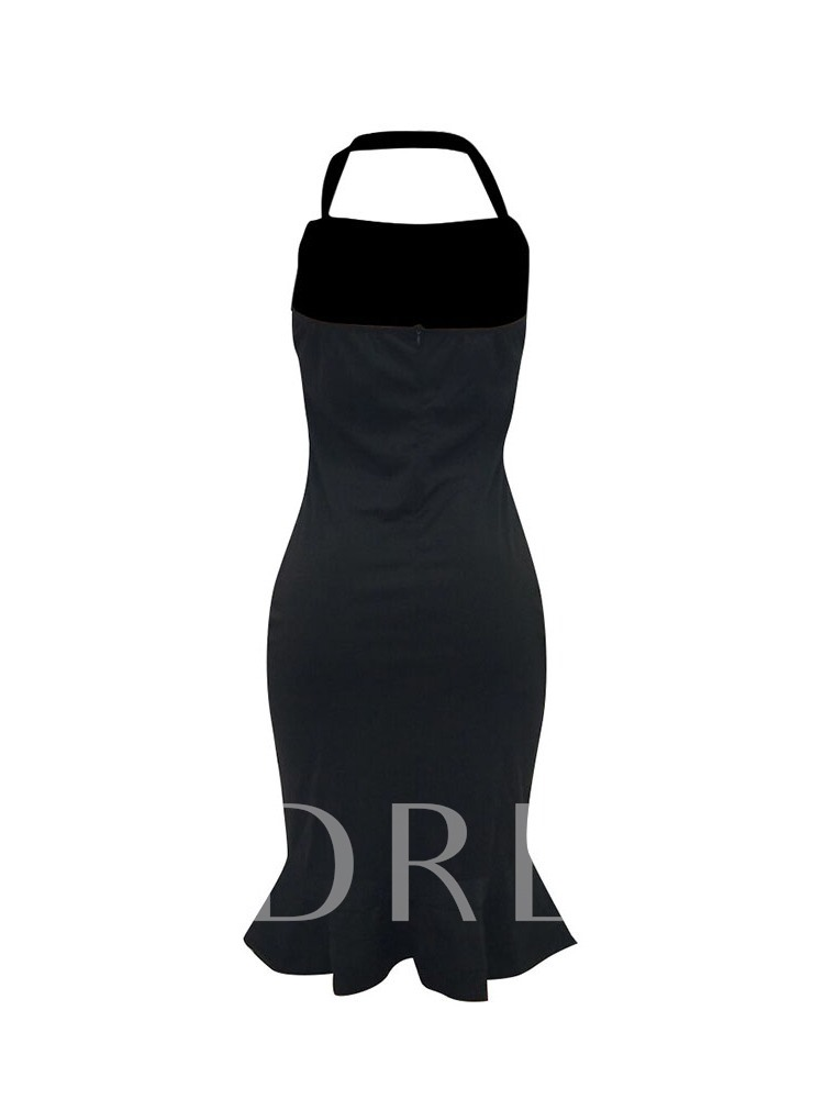 Backless Sleeveless Sexy Women's Bodycon Dress