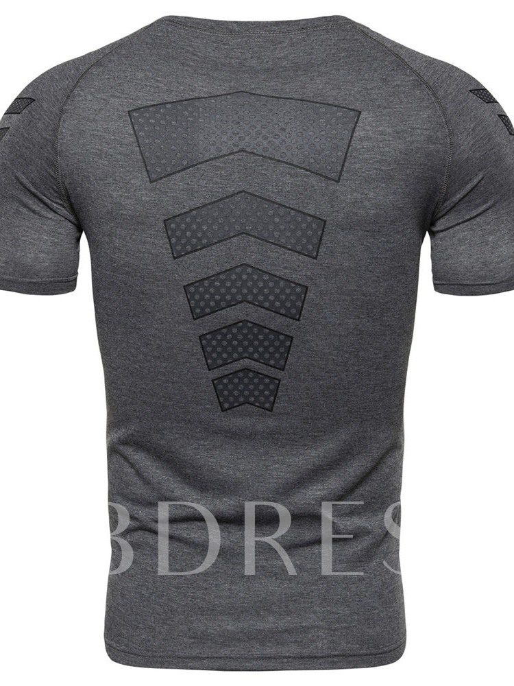 Round Neck Casual Polka Dots Slim Men's T-shirt