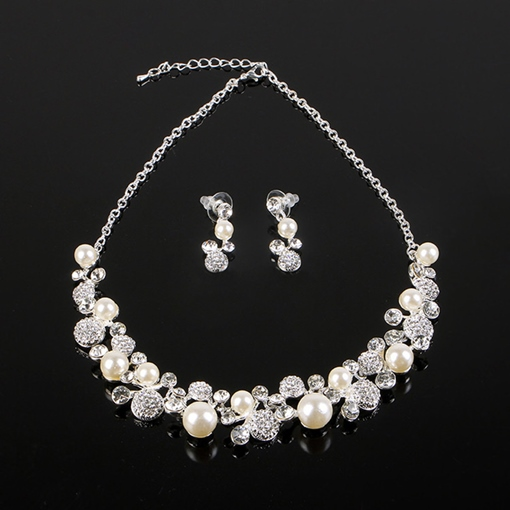 Earrings E-Plating Korean Jewelry Sets (Wedding)