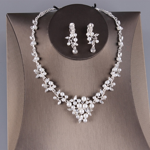 Earrings E-Plating Korean Wedding Jewelry Set