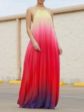 Backless Sleeveless High Waist Women's Maxi Dress