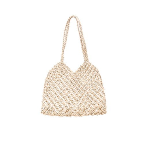 Plain Polyester Knitted Barrel-Shaped Shoulder Bags