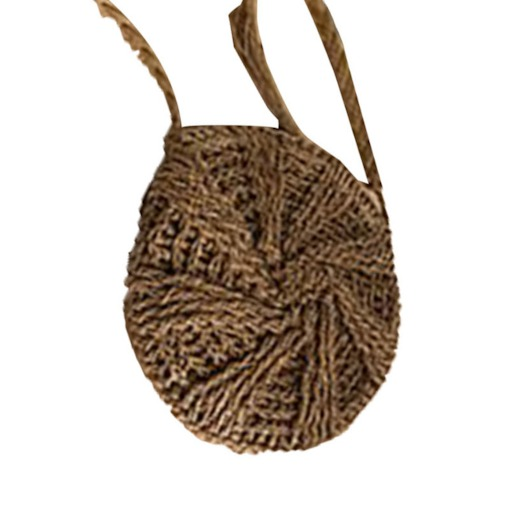 Knitted Grass Plain Circular Crossbody Bags