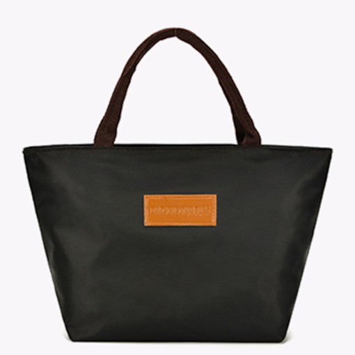 Cotton PU Plain Square Tote Bags