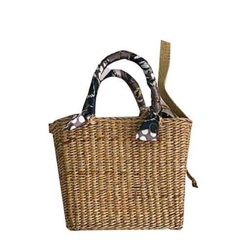 Knitted Plain Grass Rectangle Straw Bags