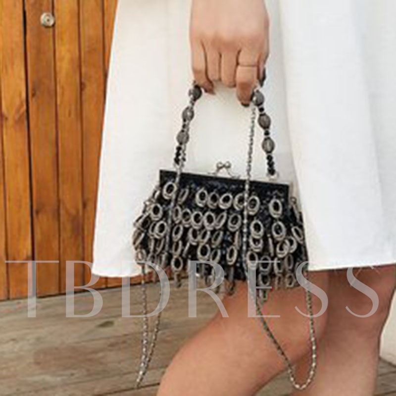 Plain ABS Plastic Sequins Clutch